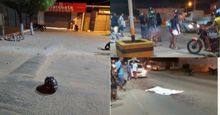 Acidente entre moto e carreta estraçalha corpo da vítima em Casa Nova
