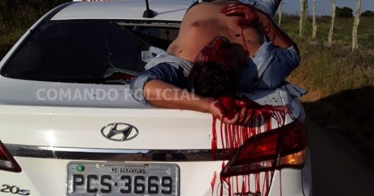 Motoqueiro fica ferido em acidente na zona rural de Saloá