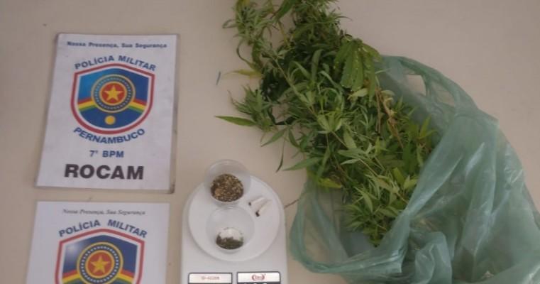 Ouricuri-PE homem é preso em flagrante por tráfico de drogas e receptação