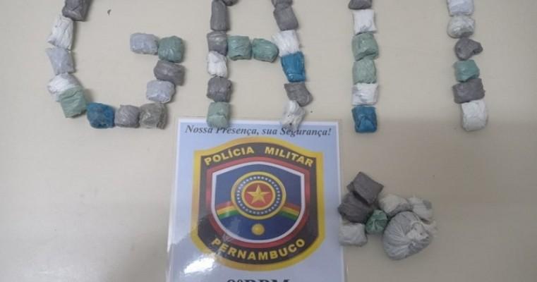 Serrita-PE operação policial envolvendo NIS-3 e GATI do 8°BPM prende traficante em flagrante