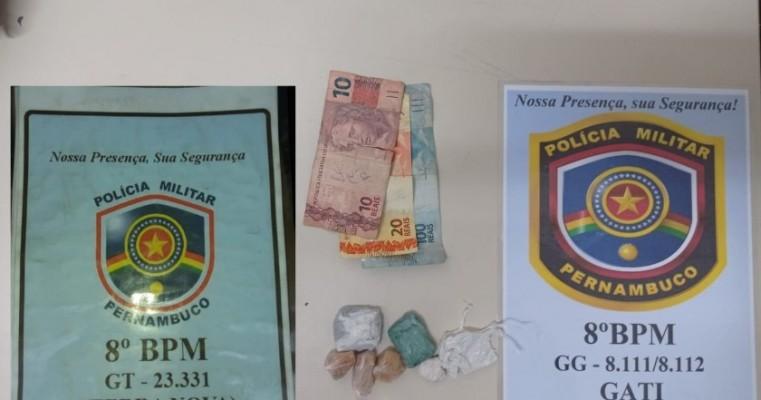 Policias militar prendem homens em terra nova e Salgueiro por tráfico de drogas
