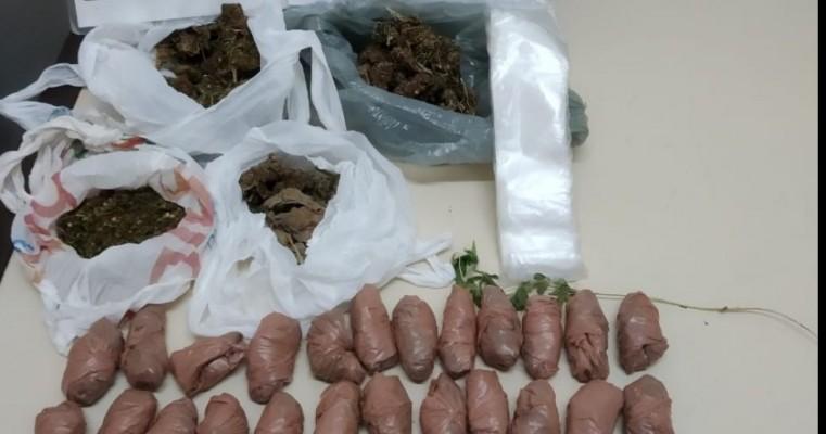 Salgueiro-PE homem é preso em flagrante por tráfico de drogas e cultivo de maconha