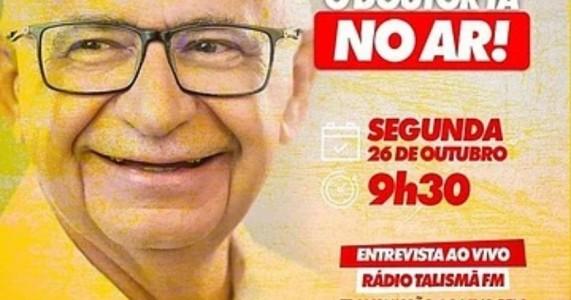 Eleições 2020: Dr. Marcones Sá dará entrevista nesta segunda-feira (26) na rádio Talismã FM
