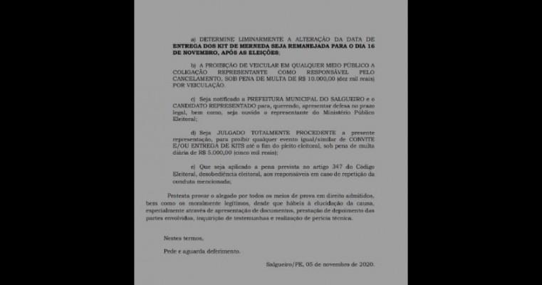 Coligação de Marcones entra com ação para cancelar e alterar data de distribuição de Kits Merenda