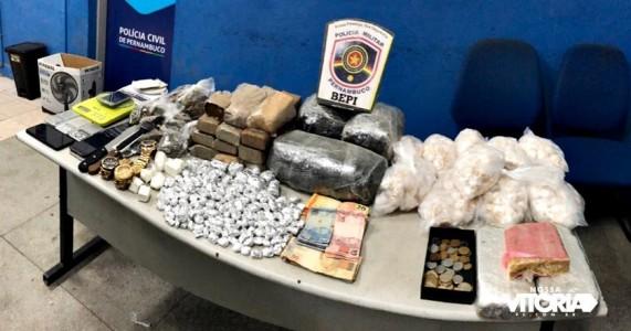 BEPI faz apreensão de drogas durante operação em Vitória de Santo Antão