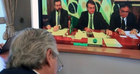 Presidentes do Brasil e da Argentina dialogam pela primeira vez