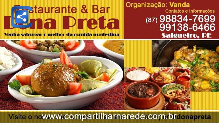 Comidas Nordestina em Salgueiro, PE - Bar e Restaurante Dona Preta