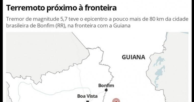 Moradores de Roraima e Amazonas sentem terremoto