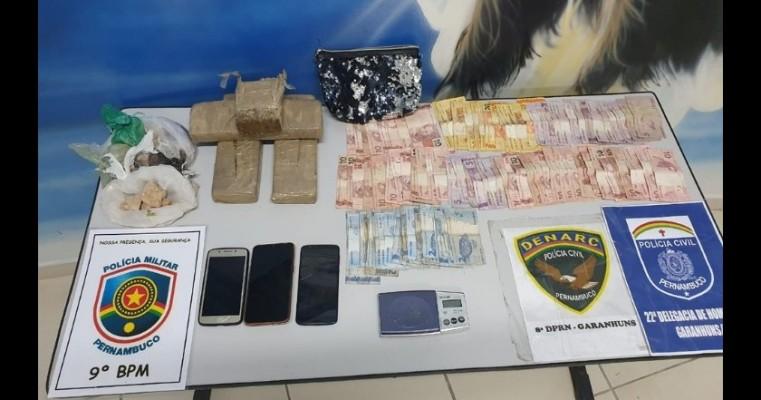 Polícias Civil e Militar realizam operação e prendem suspeitos de tráfico de droga em Garanhuns