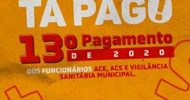 Prefeitura de Mirandiba paga 13ᵒ salário a servidores da área da saúde