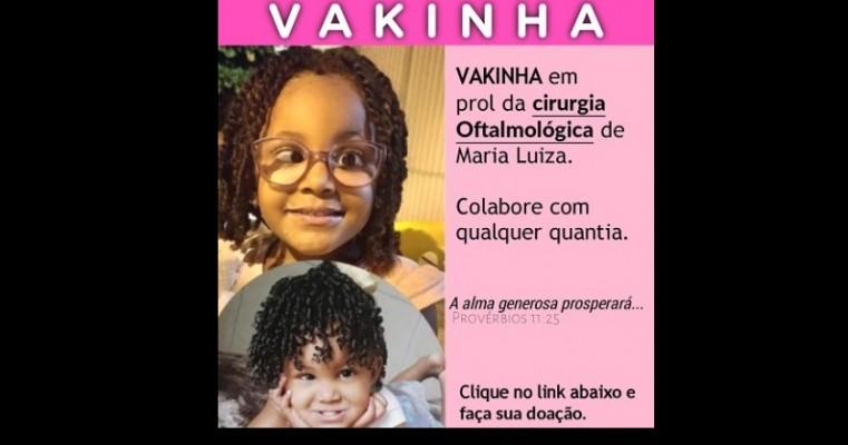Família salgueirense tenta arrecadar R$ 6 mil para cirurgia oftalmológica de menina de 4 anos