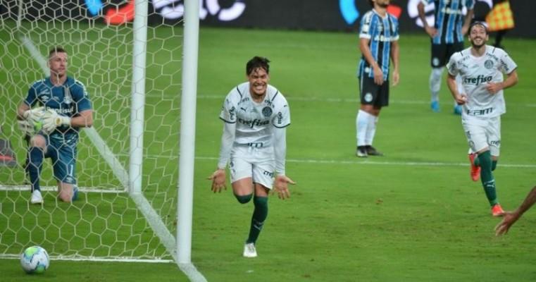 Palmeiras vence o Grêmio fora de casa no 1º jogo da final da Copa do Brasil