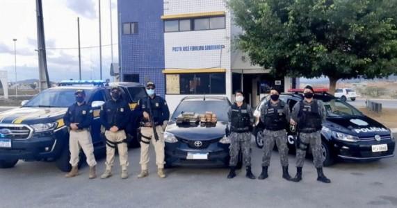 PRF apreende 10 Kg de maconha e 5 kg de cocaína, após motorista realizar ultrapassagem indevida na BR 232