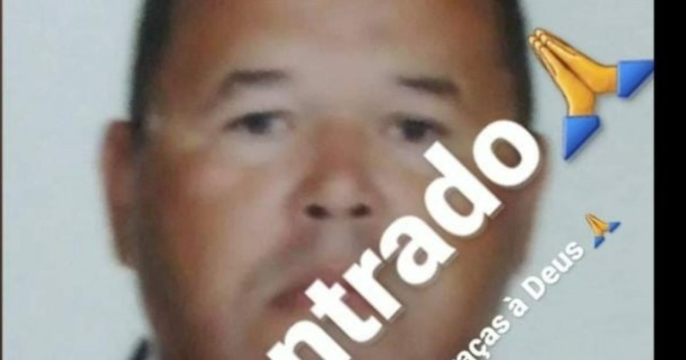O COMUNICADOR MARCOS TUNELADA, FOI ENCONTRADO