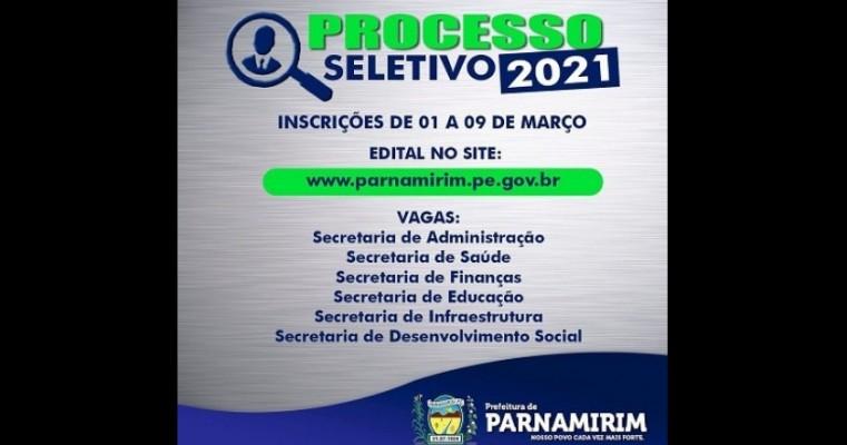 Prefeitura de Parnamirim-PE promove processo seletivo com vagas em diversas secretarias