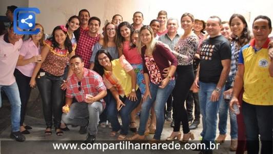 Secretaria de saúde realiza São João para os funcionários
