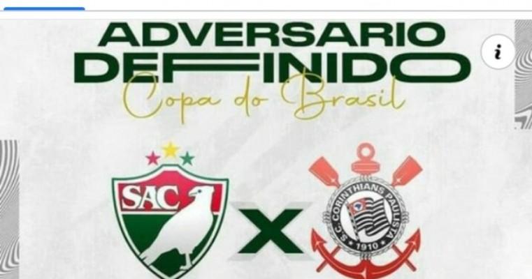 O Corinthians enfrenta o Salgueiro, de Pernambuco, na primeira fase da Copa do Brasil 2021