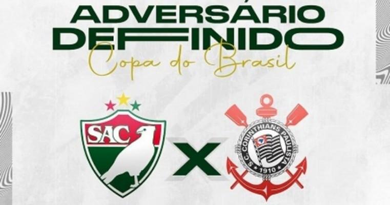 Salgueiro vai jogar contra o Corinthians no Estádio Salgueirão na 1ª fase da Copa do Brasil