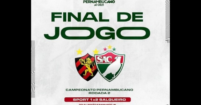 Salgueiro vence Sport e assume liderança do Campeonato Pernambucano