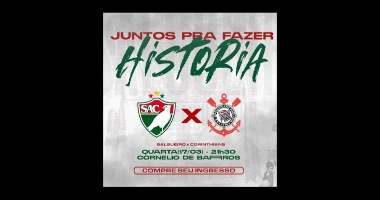 Carcará do Sertão vende ingressos virtuais para jogo contra o Corinthians