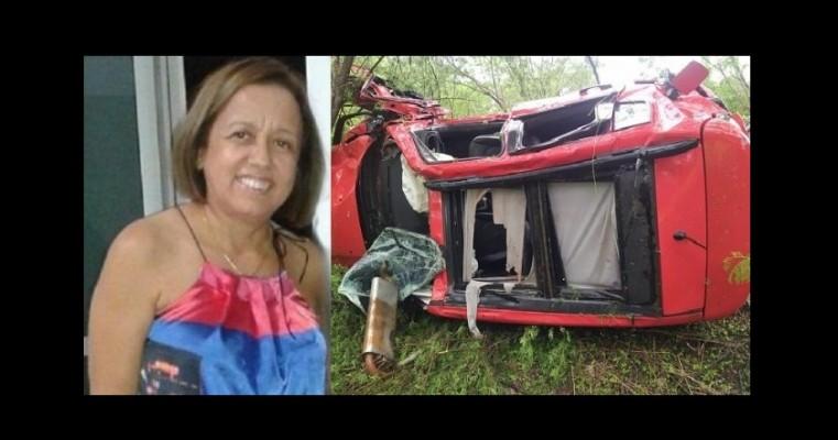 Dentista morre após carro capotar na CE 292, em Santana do cariri, filha da vítima também estava no veículo