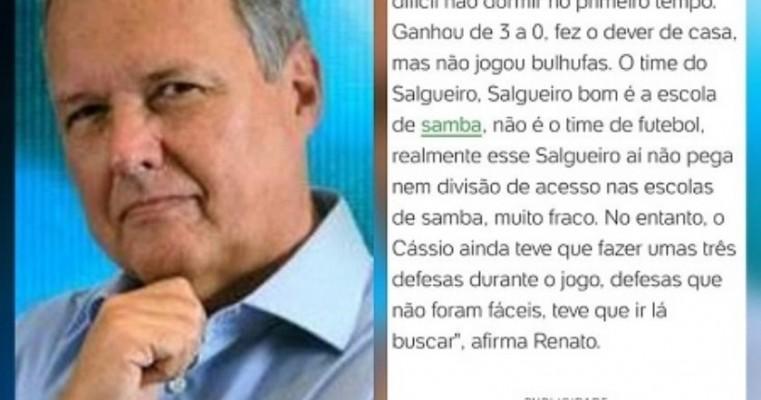 Comentarista esportivo do portal UOL menospreza o Carcará do Sertão: 'Salgueiro bom é a escola de samba'