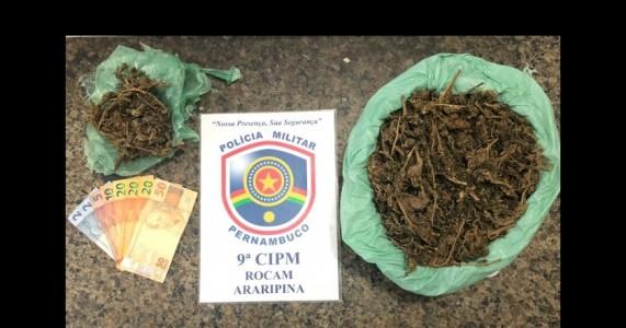 Rocam e malhas da lei da 9°CIPM prendem homens em flagrante por tráfico de drogas em Araripina/PE