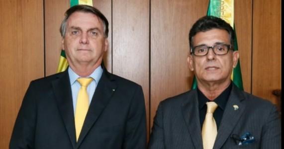 O PRESIDENTE BOLSONARO E O PRESIDENTE DO PTB CORONEL MEIRA, SE REUNIRAM