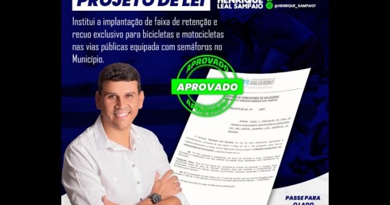 Salgueiro: Câmara de Vereadores aprova por unanimidade em 1° e 2° turno projeto de lei do vereador Henrique Leal Sampaio