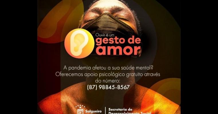 Prefeitura do Salgueiro oferece tratamento psicológico a quem teve a saúde mental afetada pela pandemia