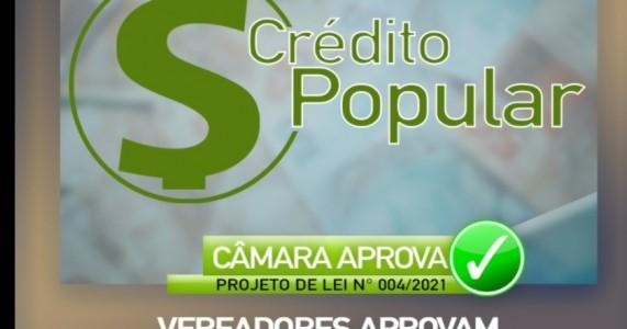 Câmara de Vereadores de Salgueiro aprova Projeto de Lei; que cria o Programa de Crédito Popular.