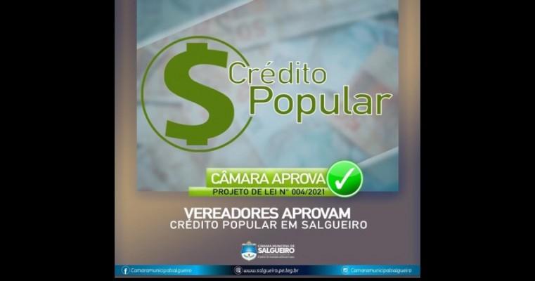 Câmara de Vereadores de Salgueiro aprova Projeto de Lei; que cria o Programa de Crédito Popular