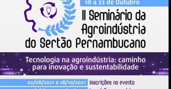 IFSertãoPE realiza 2ᵒ Seminário da Agroindústria do Sertão Pernambucano em outubro