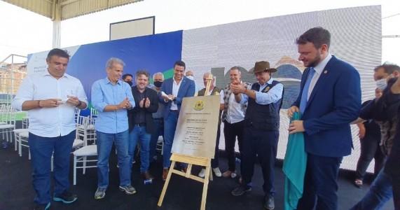 Feitosa participa da entrega da Praça Cultural, promovida pelo Ministro Gilson Machado, em Caruaru