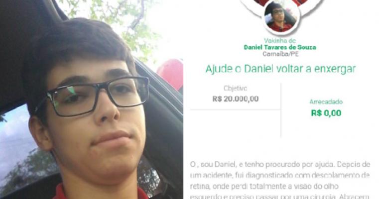 Jovem músico carnaibano Daniel Tavares perde visão e faz campanha para realizar cirurgia!
