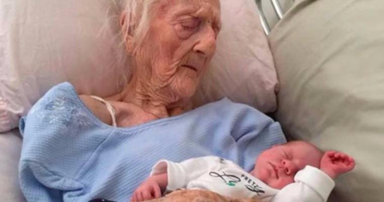 Idosa de 101 anos dá à luz a uma criança e gera revolta por causa de transplante.