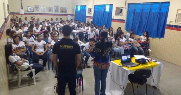 Salgueiro: Nuprev realizou campanha,; Bullying não é brincadeira