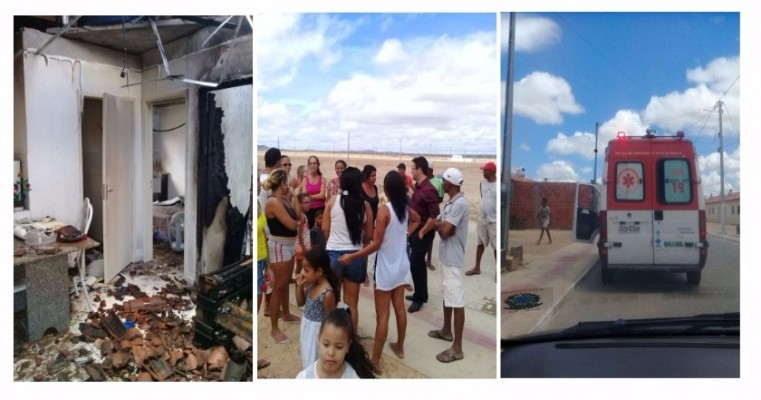 Moradores do Residencial Doutor Humberto Pereira arrombam casa para salvar 3 pessoas durante incêndio
