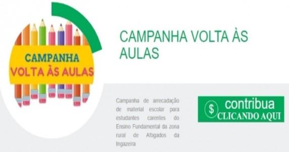"""VOLUNTARIADO JOVEM DE AFOGADOS DA INGAZEIRA LANÇA A CAMPANHA """"VOLTA ÀS AULAS"""""""