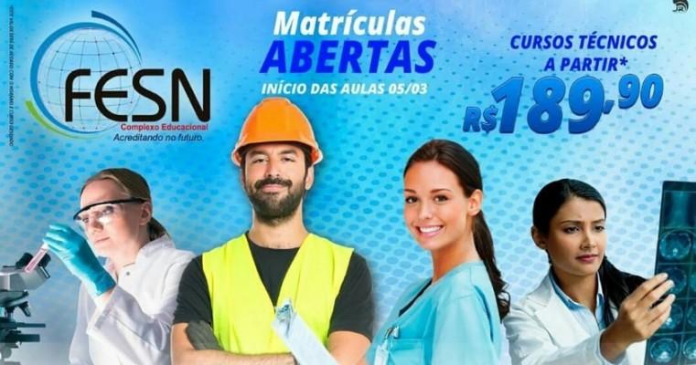 FESN - Complexo Educacional, chega em Salgueiro-PE oferecendo o melhor curso Técnico da região.