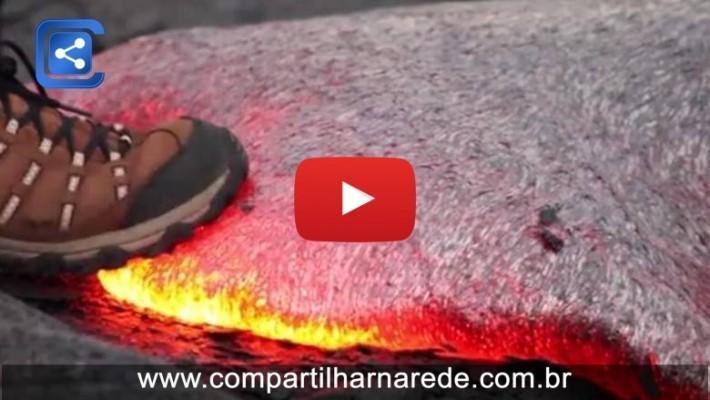 o que aconteceria se você pisasse em uma larva de vulcão