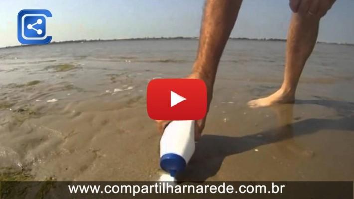 O que acontece se colocar sal na areia de praia