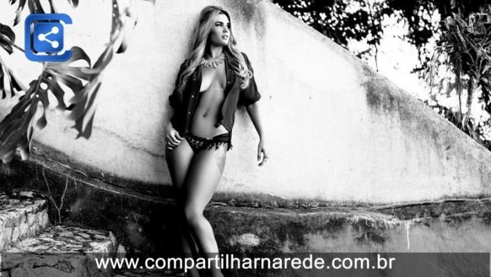 Ex-BBB15 Aline Gotschalg posa em ensaio sensual; veja as fotos
