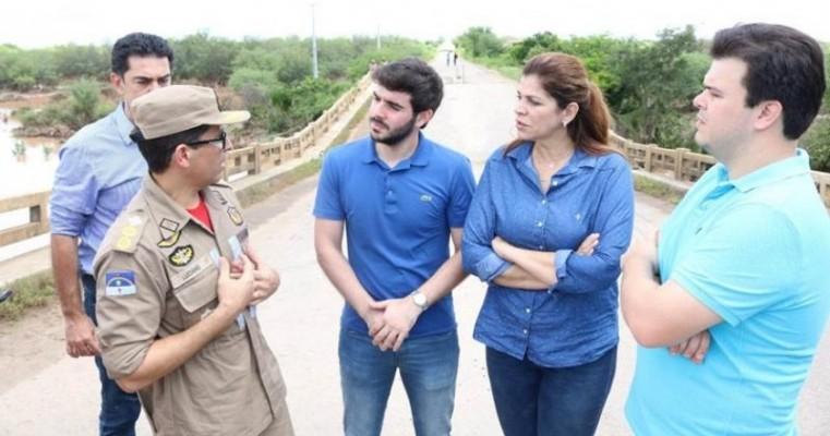 Fernando Filho e Socorro Pimentel se colocam à disposição para ajudar Bodocó após as chuvas