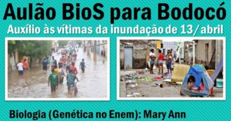 Cursinho BioS promoverá aulão solidário em prol de famílias atingidas pelas chuvas em Bodocó