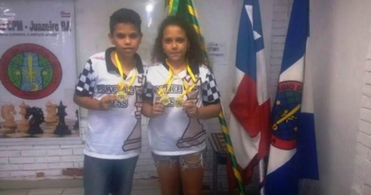 Dupla de estudantes da rede municipal de Petrolina conquista 'Nordestão' de Xadrez