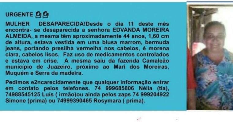 Urgente: Familia Procura Mulher que está desaparecida desde dia 11 de Abril